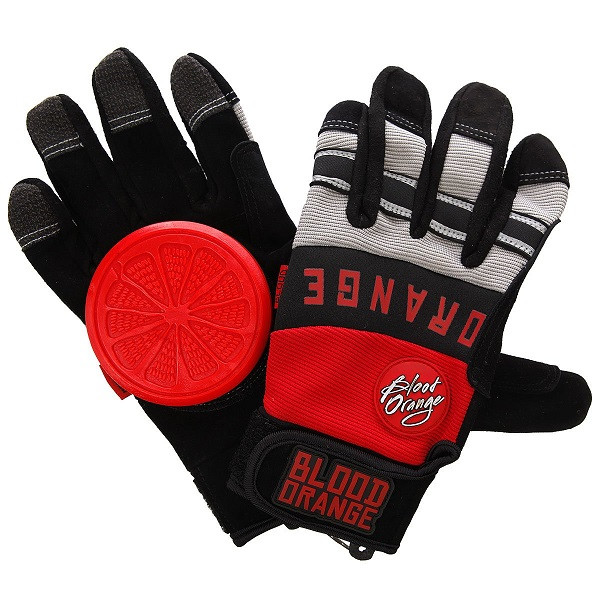 Blood Orange Knuckles Slide Gloves Red / Grey